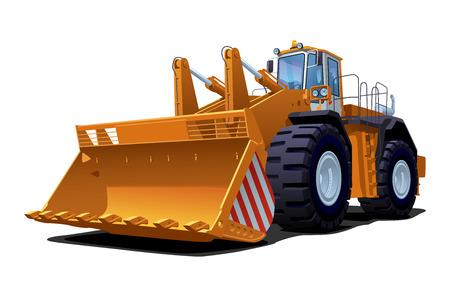 bulldozer: vector illustration of a bulldozer. Simple gradients only - no gradient mesh.