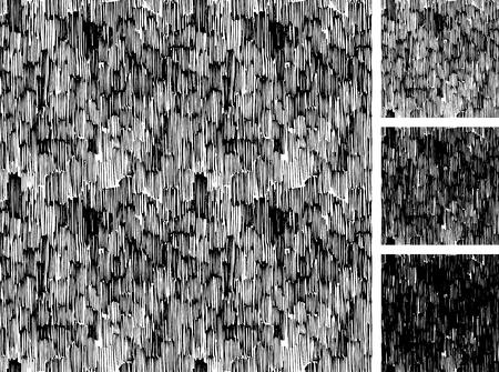 sin patrón de bocetos dibujados a mano modelo de trama paralela grunge áspera. textura tiene tres tonos diferentes: ligero, medio y tono oscuro.