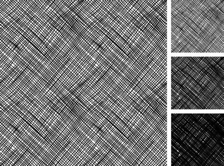 Patrón sin fisuras de bocetos dibujados a mano áspera cruz patrón de grunge para incubar. la textura tiene tres tonos diferentes: claro, medio y oscuro. Ilustración de vector