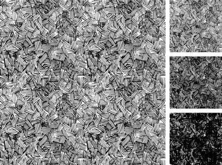 手描きスケッチ大まかな陰影グランジ パターンのシームレスなパターン。テクスチャの 3 つの異なる色: ライト、中間および暗いトーン。