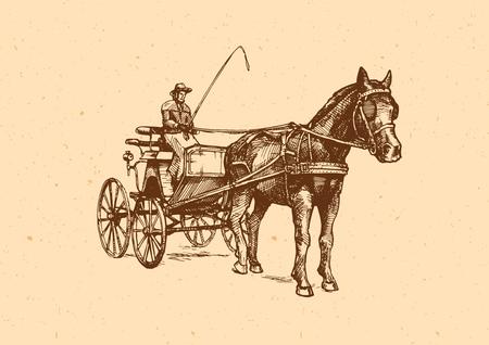 スパイダー フェートンのベクター イラストです。開いているスポーティな運送一馬描き下ろし。