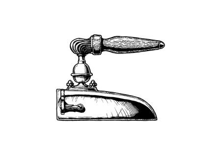 Vector illustration of box iron. Isolated on white background.
