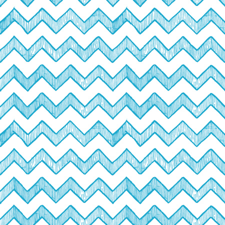 Blue seamless pattern of zigzag parallel lines