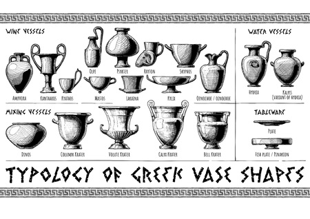 Typology Of Greek Vase Shapes Wine Mixing Water Vessels And