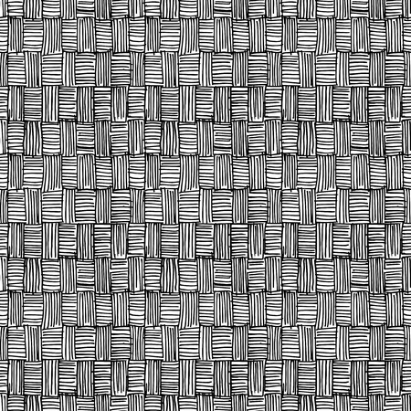 Seamless pattern of hand drawn sketches rough hatching grunge texture. Vector illustration
