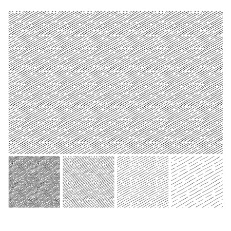 Het naadloze patroon van hand getrokken schetsen neigde parallelle uitbroedende grunge texturen. Textuur heeft vier verschillende tinten. vector illustratie