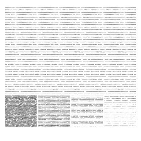 Patrón sin fisuras de bocetos dibujados a mano paralela horizontal trama texturas grunge. La textura tiene cuatro tonos diferentes. ilustración vectorial