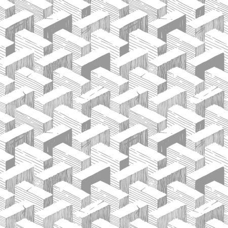 Seamless pattern with optical illusion element. Ilustracja