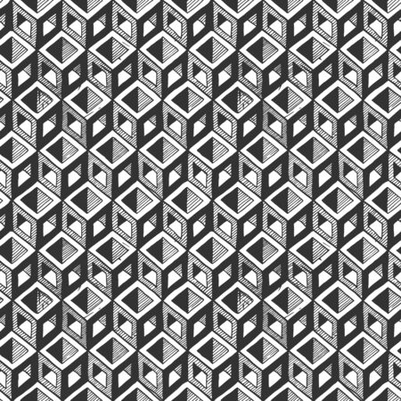 Seamless pattern with optical illusion element.