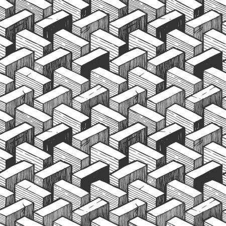 Modèle sans couture avec élément d'illusion d'optique. Vecteurs