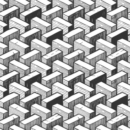 Seamless pattern with optical illusion element. Illustration