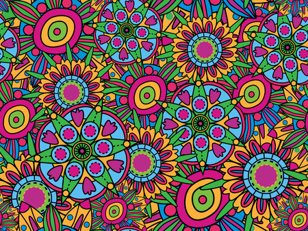 Psychedelic seamless texture Vector