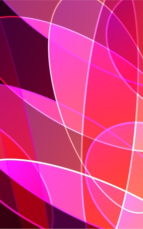 round window: Abstract pink  background Illustration