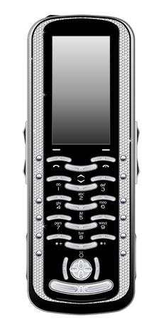 Vecor móvil con diamods. Aislado Foto de archivo - 8397511