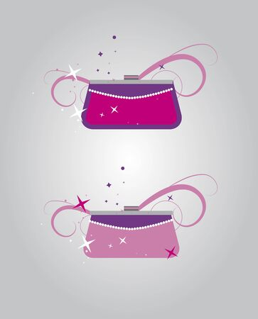 Women pink handbags Vector