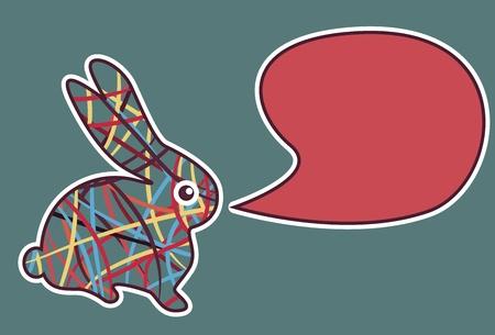 new year rabbit. Vector illustration Stock Vector - 8496825
