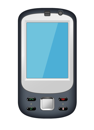mobile phone with blue screen Illustration