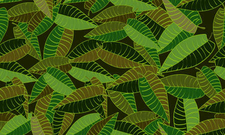 Seamless leaves texture Vector