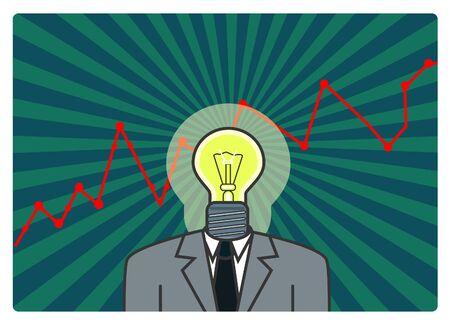 Businessman with good idea Stock Vector - 8591050