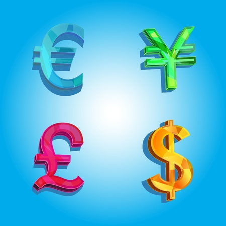 Illustration with currency symbol Vector