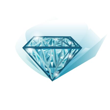 Isolated beautiful lighting jewel diamond  Vector