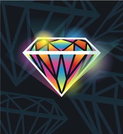 millonario: Aislado de iluminaci�n Bella Joya diamante