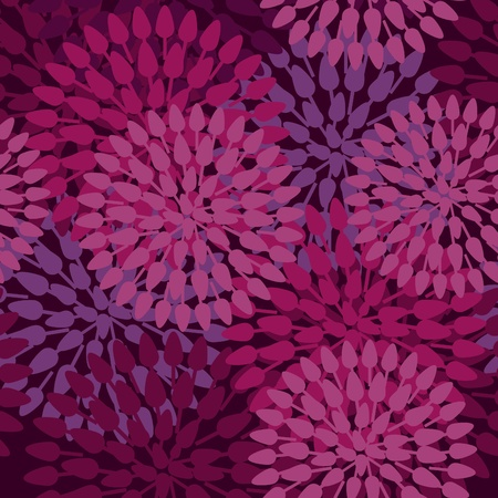 Flowers abstract seamless texture in gentle colors Vector