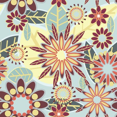 Flowers abstract seamless texture in gentle colors Stock Vector - 8631969