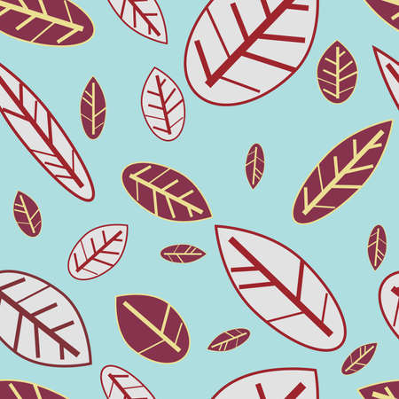 Abstract seamless texture with natural  leaf Stock Vector - 8631598