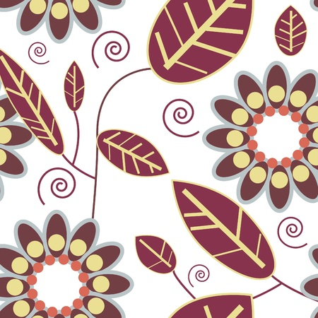 Flowers abstract seamless in gentle colors Vector