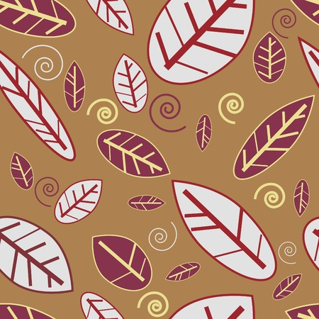 Abstract seamless texture with natural  leaf Vector