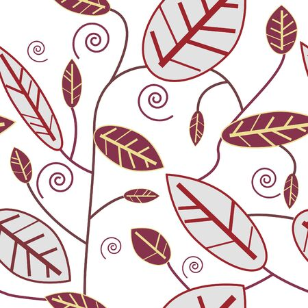 Abstract seamless texture with natural  leaf Illustration