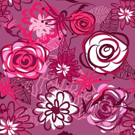 helechos: Flores abstracci�n textura transparente en colores suaves Vectores