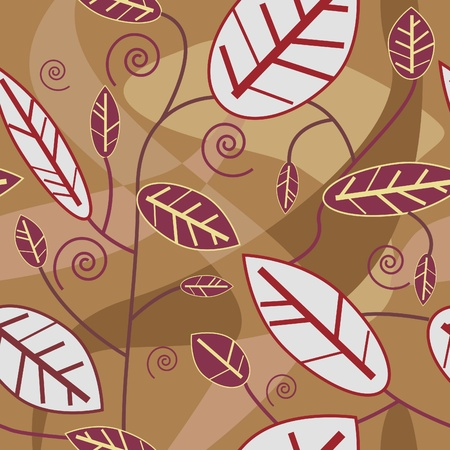 Abstract seamless texture with natural  leaf Stock Vector - 8720910