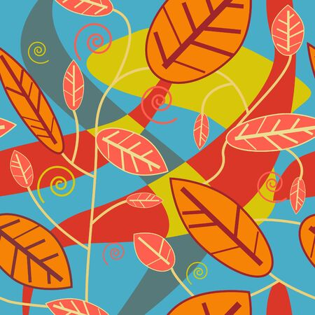 Seamless leafs texture Stock Vector - 8720911
