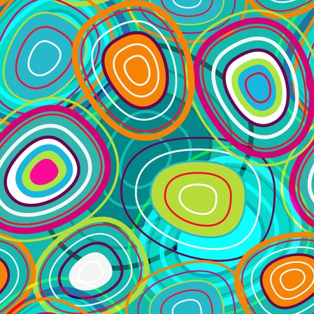 retro revival: abstract seamless texture with bubbles in turquoise colors