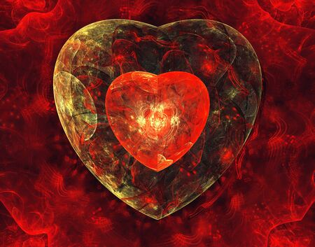 cosmic: Abstract background with hearts