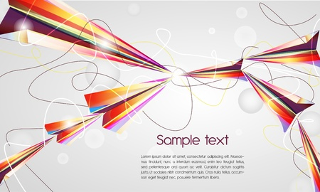 Abstract vector background with bright airplanes Vector