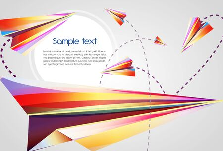 Beautiful abstract vector background with bright multicolor lines Vector