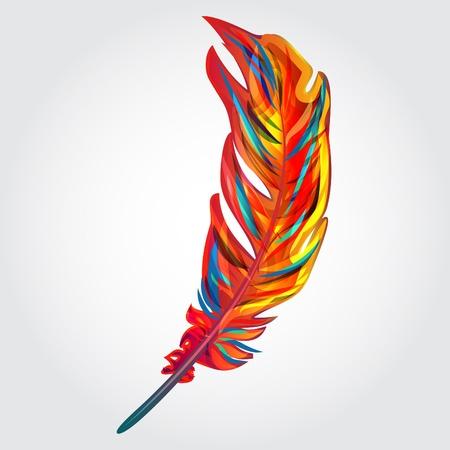 Plume rouge parrot, vecteur lumineux clipart
