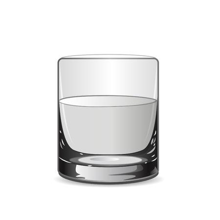 Illustration vectorielle avec verre  Vecteurs