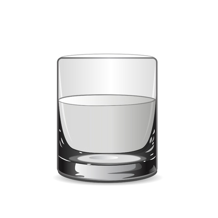 Vector illustration with glass  Vector