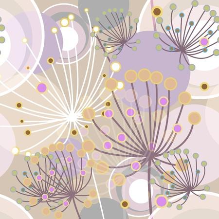 Bloemen abstract naadloze vector textuur in zachte kleuren Vector Illustratie