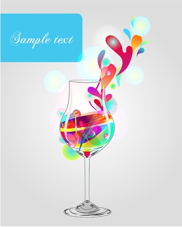 Glass with cocktail Vector