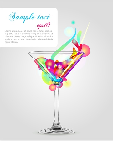 martini splash: Martini glass