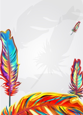 Bright feathers Stock Vector - 9069606