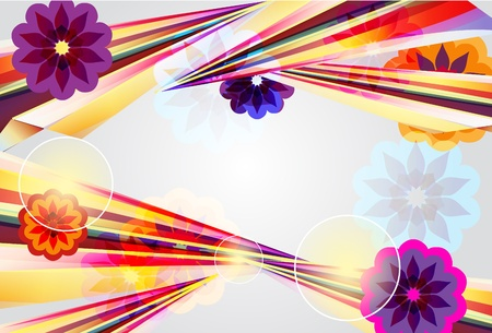 fantail: Abstract vector background with bright shapes Illustration