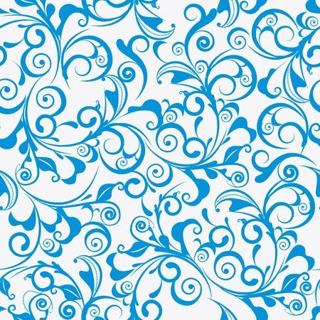 Licht blauw vector naadloze damast patroon