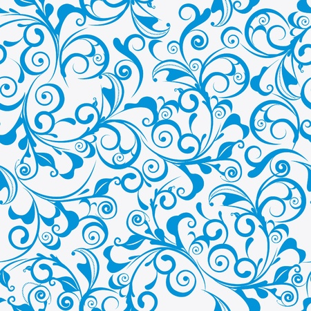 repeating pattern: Light blue vector seamless damask pattern