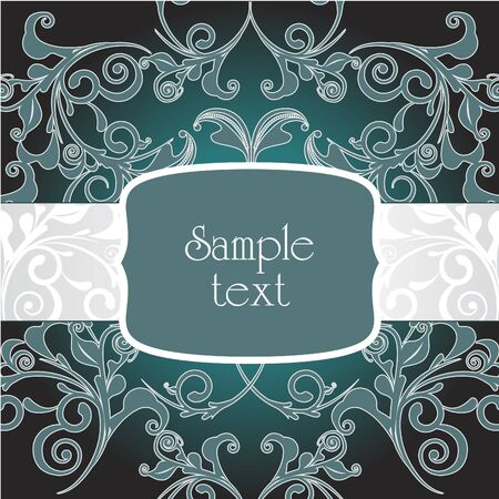 creative arts: Classic decorative vector frame